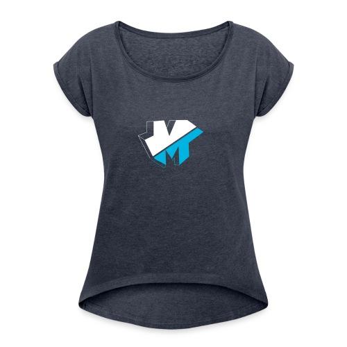 5050logo - Women's Roll Cuff T-Shirt