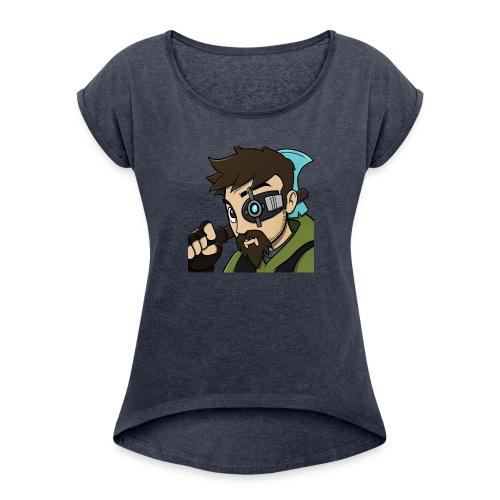 Iskall85 Avatar - Women's Roll Cuff T-Shirt