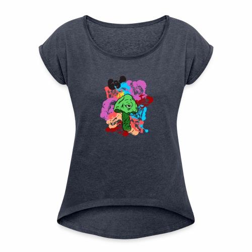 Shroom Trip - Women's Roll Cuff T-Shirt