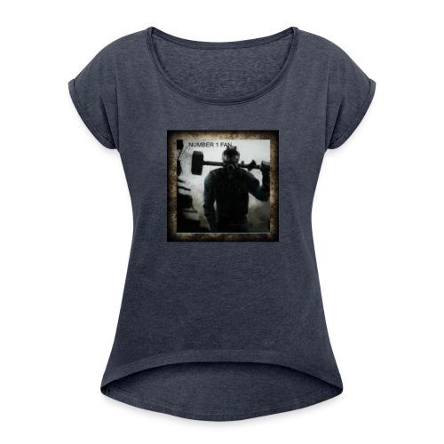 limenet adishen update coming soon - Women's Roll Cuff T-Shirt