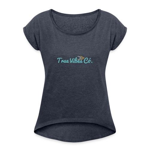 TrueVibes x Pastel Collection - Women's Roll Cuff T-Shirt