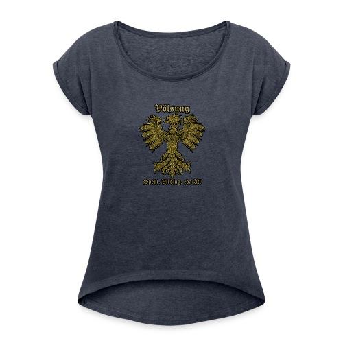 Völsung Eagle cases - Women's Roll Cuff T-Shirt