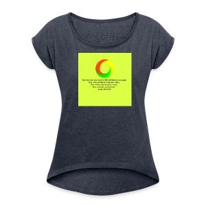 Isaiah 40:31 - Women's Roll Cuff T-Shirt