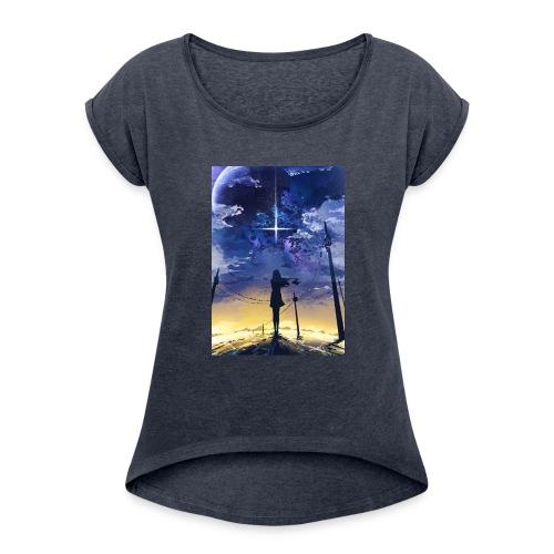 Star Power - Women's Roll Cuff T-Shirt