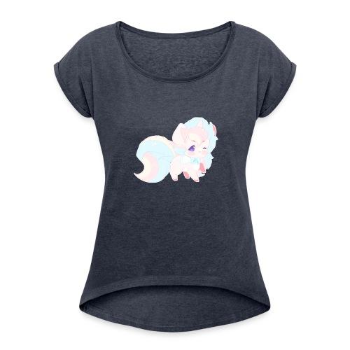 dokicorn - Women's Roll Cuff T-Shirt