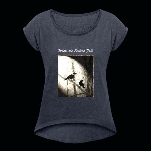 True Fate - Birds - Women's Roll Cuff T-Shirt