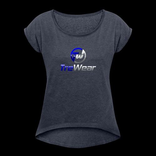 TRE Wear Logo - Women's Roll Cuff T-Shirt