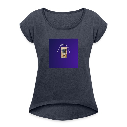 Puppy #1 - Women's Roll Cuff T-Shirt
