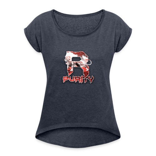 Rose_Purity - Women's Roll Cuff T-Shirt