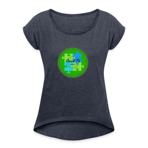 Coool T'z Green - Women's Roll Cuff T-Shirt