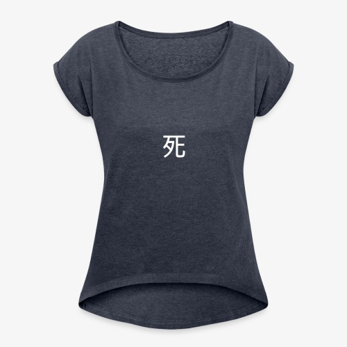 Deathxant PNG - Women's Roll Cuff T-Shirt
