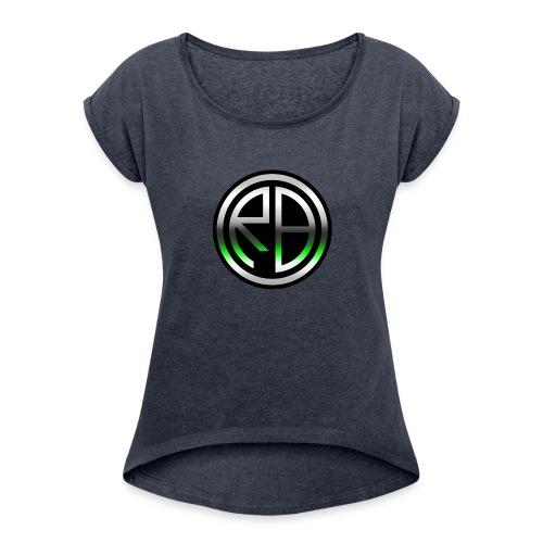 RB Comics logo - Women's Roll Cuff T-Shirt