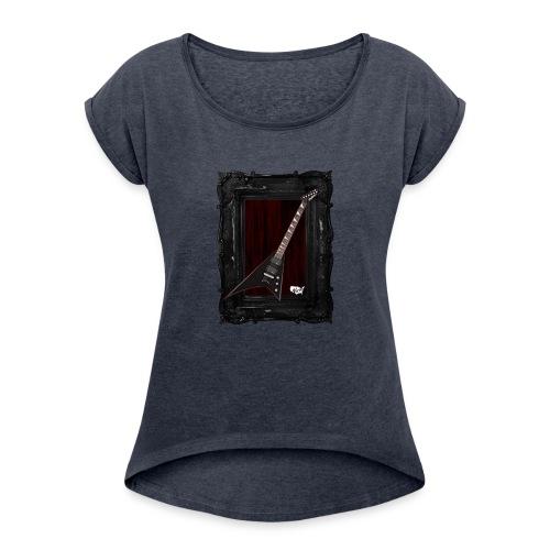 Tshirt_Jackson_Framed_V2 - Women's Roll Cuff T-Shirt