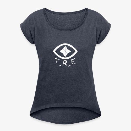 TESTLogoW - Women's Roll Cuff T-Shirt