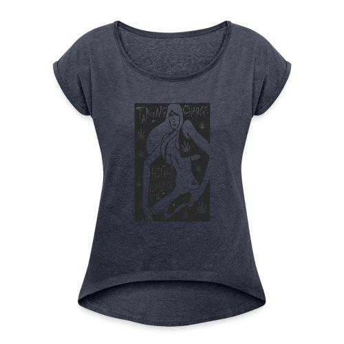 tees_three - Women's Roll Cuff T-Shirt