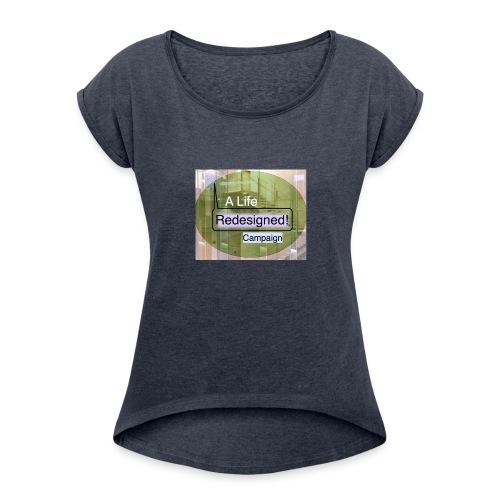 PowerWords secondB - Women's Roll Cuff T-Shirt