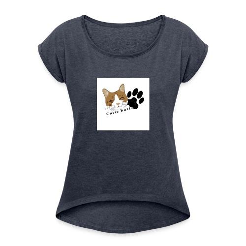 Cutie_Kattz - Women's Roll Cuff T-Shirt