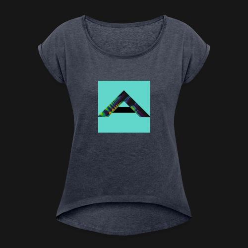 Aurora Logo - Women's Roll Cuff T-Shirt