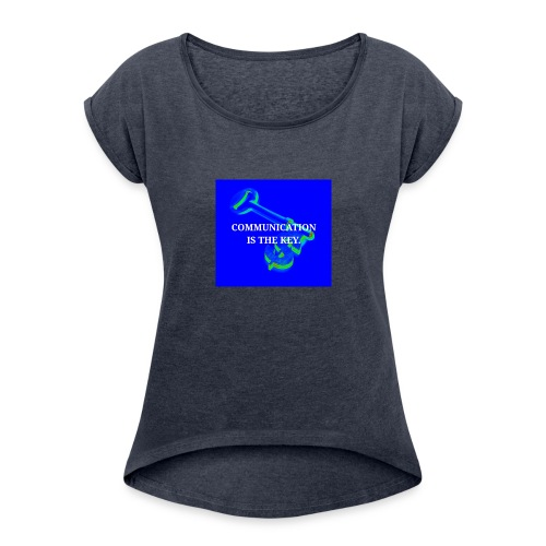 Communication - Women's Roll Cuff T-Shirt