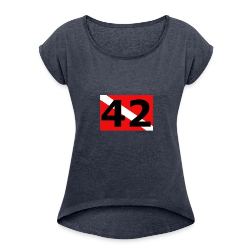 Ultimate ? of Life, the Universe, and Everything! - Women's Roll Cuff T-Shirt