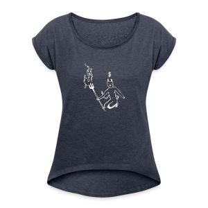 Devil - Women's Roll Cuff T-Shirt