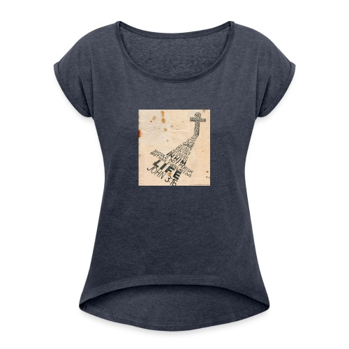 john3:16 - Women's Roll Cuff T-Shirt
