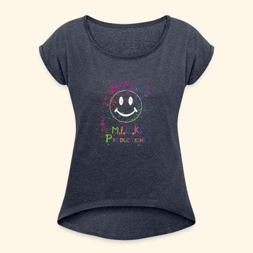 M.I.L.K. Color Splatter T-Shirt - Women's Roll Cuff T-Shirt