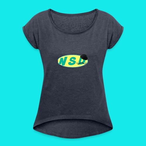 NotSoDapper logo - Women's Roll Cuff T-Shirt
