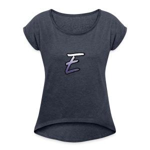 Effectro Mannie Logo - Women's Roll Cuff T-Shirt