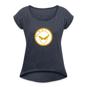 FG Phone Cases (Pure Clean Gold) - Women's Roll Cuff T-Shirt
