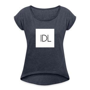 IDL Simple Logo - Women's Roll Cuff T-Shirt