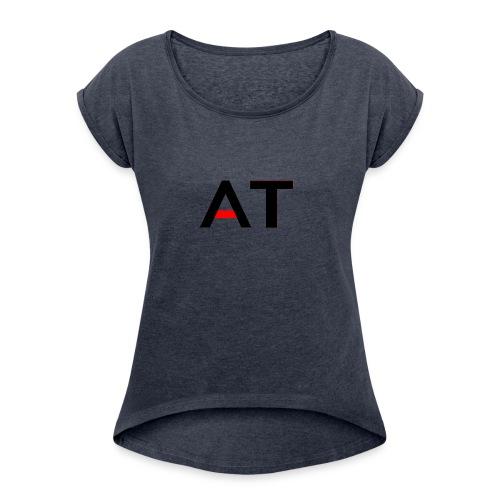 AdrenalineTech Logo Design - Women's Roll Cuff T-Shirt