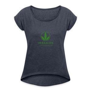 Herbalife - T-shirt Femme à manches retournées