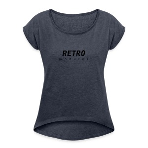 Retro Modules - sans frame - Women's Roll Cuff T-Shirt