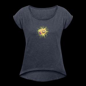 Potato_Smarts Logo - Women's Roll Cuff T-Shirt