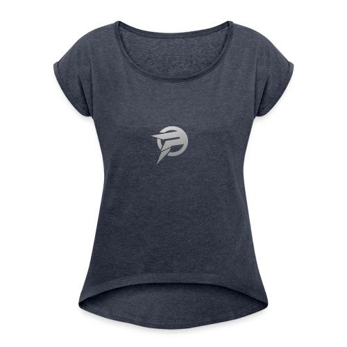 2dlogopath - Women's Roll Cuff T-Shirt