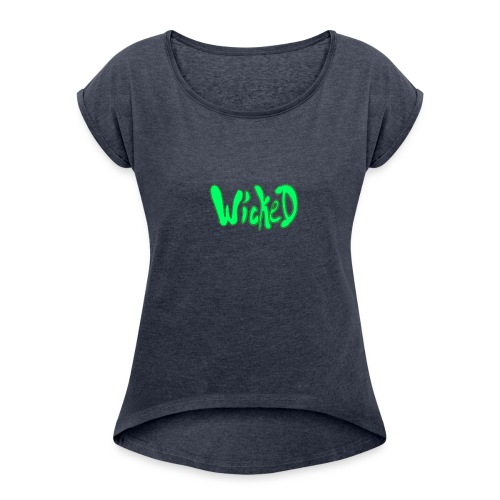 Wicked Gothic Style - Women's Roll Cuff T-Shirt