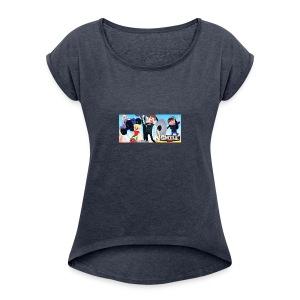 Smile Inc Hoodie - Women's Roll Cuff T-Shirt