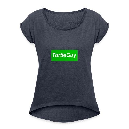 TurtleGuyYT Fan LOGO - Women's Roll Cuff T-Shirt