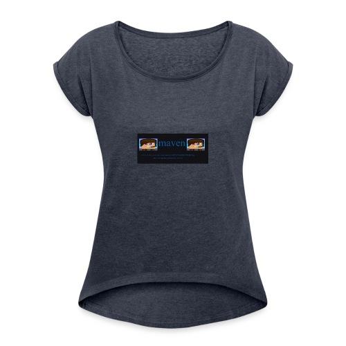 maventshirtlogo - Women's Roll Cuff T-Shirt