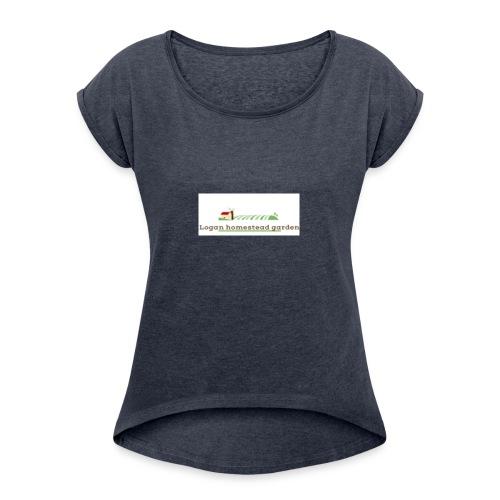 Homesteadlogo - Women's Roll Cuff T-Shirt
