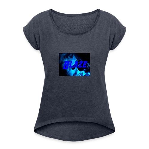 Blue Fire - Women's Roll Cuff T-Shirt