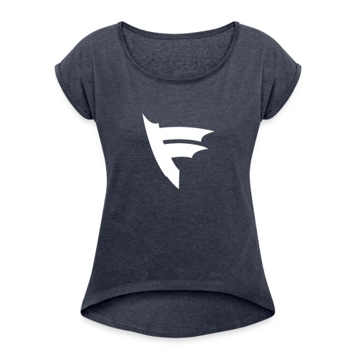 the f white - Women's Roll Cuff T-Shirt