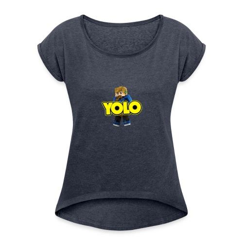 Riverrain123 2 - Women's Roll Cuff T-Shirt