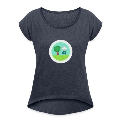MelodyPark Server Logo - Women's Roll Cuff T-Shirt