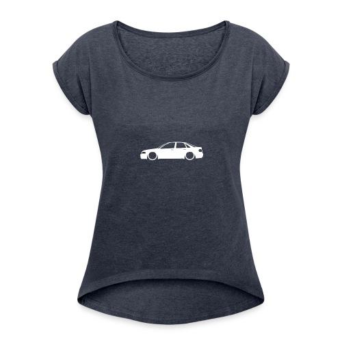 B5 outline - Women's Roll Cuff T-Shirt