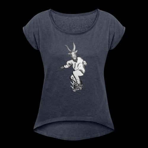 SKATEGOATT2 - Women's Roll Cuff T-Shirt