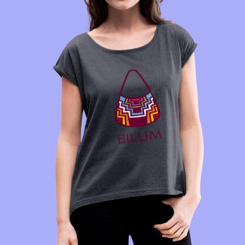 Bilum artwork - Women's Roll Cuff T-Shirt