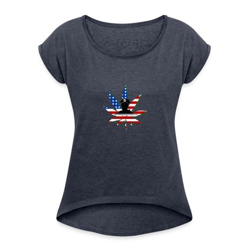 Logo_1-2 - Women's Roll Cuff T-Shirt