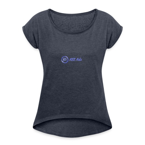 A2Z Adz logo - Women's Roll Cuff T-Shirt